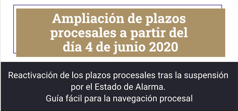Infografia Ampliación de plazos procesales a partir del día 4 de junio 2020