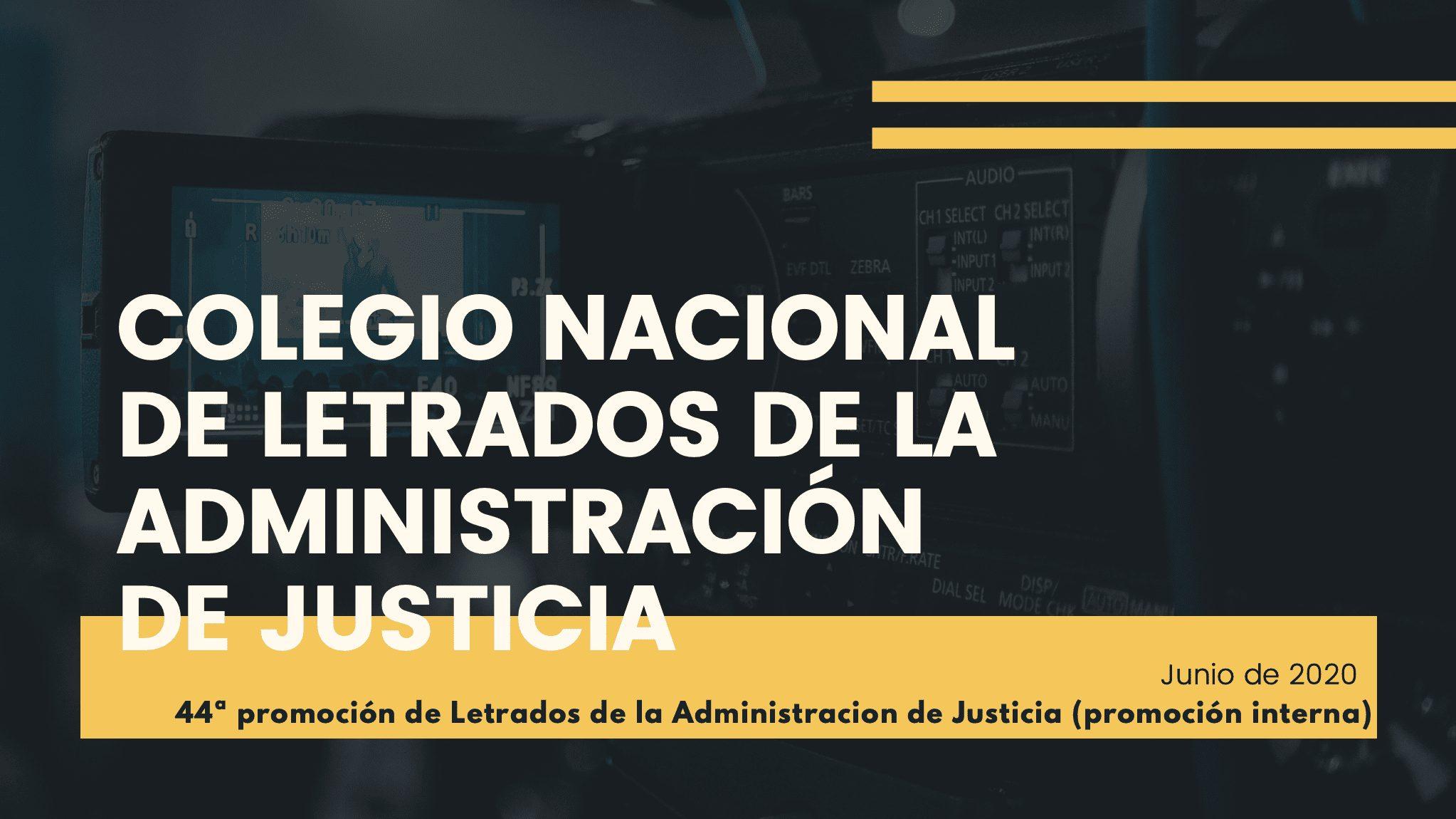 Letrados administracion justicia 44 promoción interna