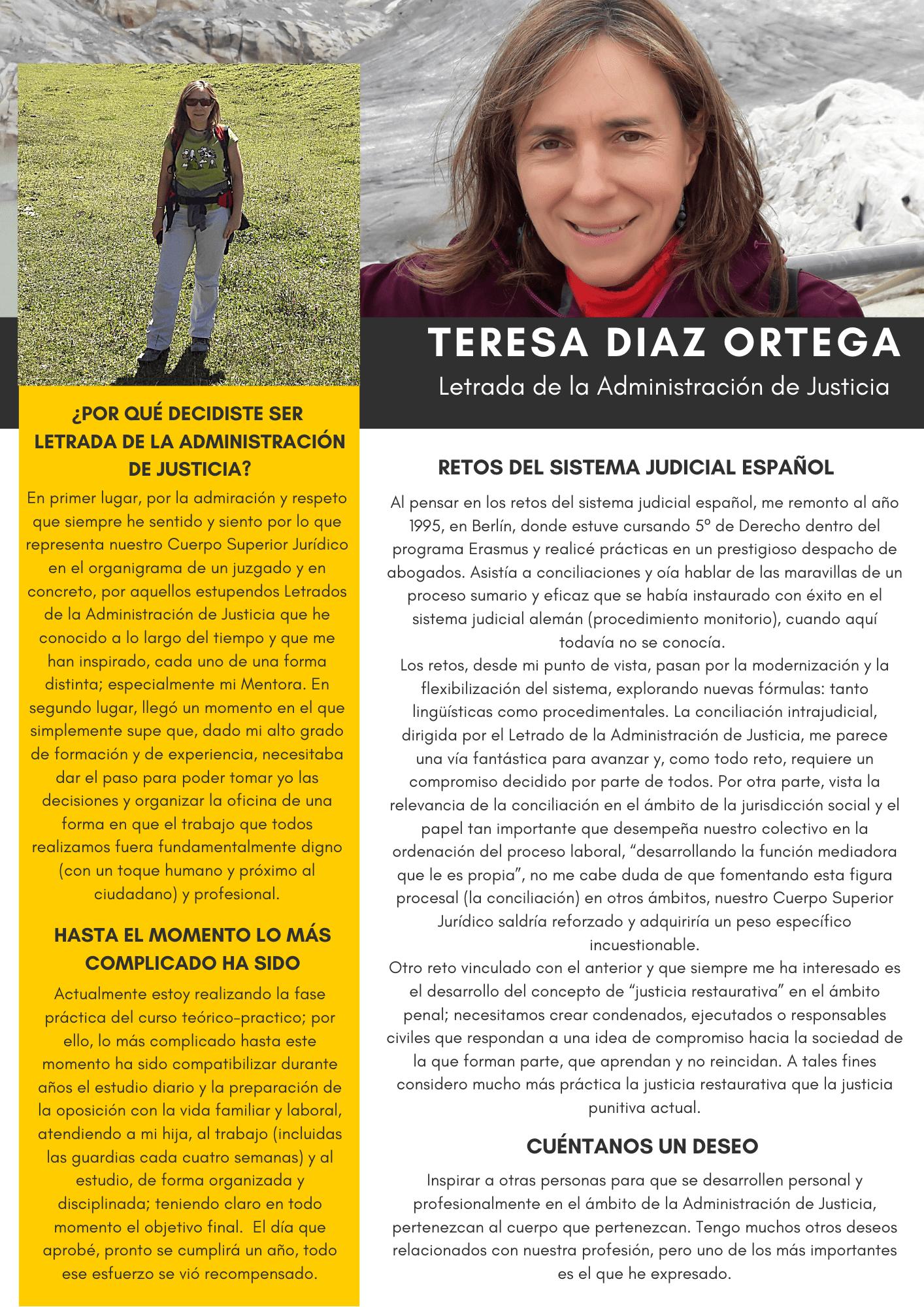 Teresa Diaz Ortega. Letrada de la Administración de Justicia